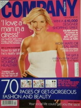 <!--2001-04-->Company magazine - April 2001 - Lisa Faulkner cover
