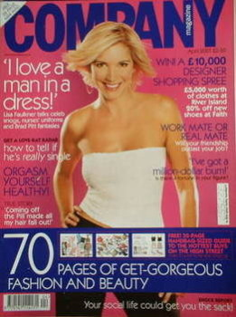 Company magazine - April 2001 - Lisa Faulkner cover