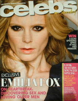 <!--2009-04-05-->Celebs magazine - Emilia Fox cover (5 April 2009)