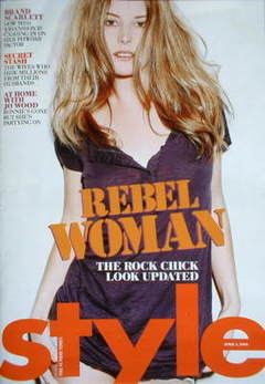 <!--2009-04-05-->Style magazine - Rebel Woman cover (5 April 2009)