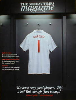 <!--2009-04-05-->The Sunday Times magazine - Fabio Capello football shirt c