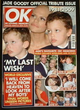 <!--2009-03-24-->OK! magazine - Jade Goody tribute cover (24 March 2009 - I