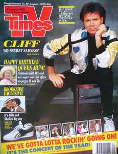 <!--1990-08-04-->TV Times magazine - Cliff Richard cover (4-10 August 1990)