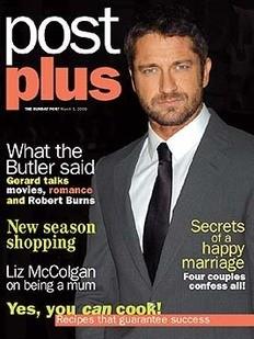 <!--2009-03-01-->Post Plus magazine - Gerard Butler cover (1 March 2009)