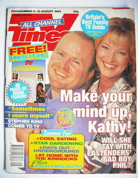 <!--1994-08-06-->TV Times magazine - Steve McFadden and Gillian Taylforth c