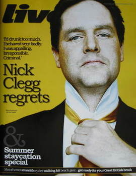 Live magazine - Nick Clegg cover (21 June 2009)