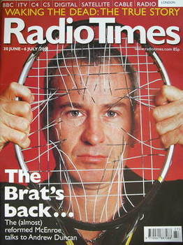<!--2001-06-30-->Radio Times magazine - John McEnroe cover (30 June-6 July