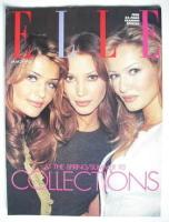 British Elle supplement - Helena Christensen, Christy Turlington and Karen Mulder cover (March 1993)