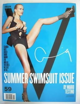 V magazine - Summer 2009 - Claudia Schiffer cover