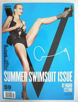<!--2009-08-->V magazine - Summer 2009 - Claudia Schiffer cover