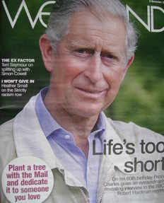 Weekend magazine - Prince Charles cover (8 November 2008)