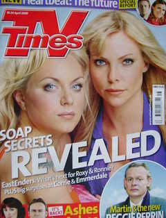 <!--2009-04-18-->TV Times magazine - Rita Simons and Samantha Janus cover (