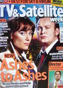 TV&Satellite Week magazine - Keeley Hawes and Philip Glenister cover (18-24