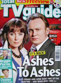 Total TV Guide magazine - Keeley Hawes and Philip Glenister cover (18-24 April 2009)
