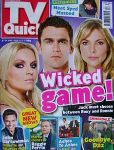 TV Quick magazine - Rita Simons, Scott Maslen, Samantha Janus cover (18-24