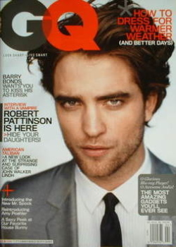 US GQ magazine - April 2009 - Robert Pattinson cover