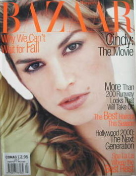 Harper's Bazaar magazine - July 1995 - Cindy Crawford cover