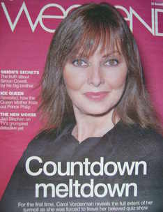 Weekend magazine - Carol Vorderman cover (29 November 2008)