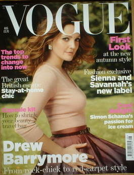 <!--2007-08-->British Vogue magazine - August 2007 - Drew Barrymore cover