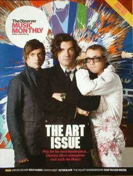 The Observer Music Monthly magazine - April 2009 - Damien Hirst and the Hours cover