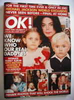 <!--2009-07-14-->OK! magazine - Michael Jackson and Prince Michael and Paris cover (14 July 2009 - Issue 682)