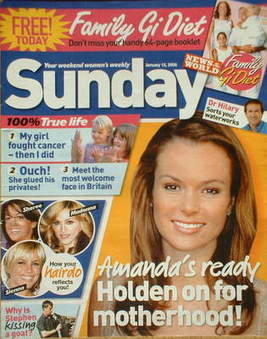 <!--2006-01-15-->Sunday magazine - 15 January 2006 - Amanda Holden cover