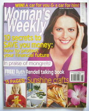 <!--2000-09-05-->Woman's Weekly magazine (5 September 2000)