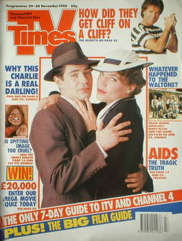 <!--1990-11-24-->TV Times magazine - Tom Radcliffe and Jennifer Calvert cov