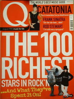 <!--1998-08-->Q magazine - The 100 Richest Stars In Rock (August 1998)