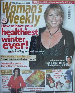 <!--2007-11-13-->Woman's Weekly magazine (13 November 2007 - Fern Britton c