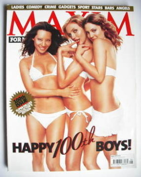 <!--2003-08-->MAXIM magazine - Lucy Liu, Cameron Diaz, Drew Barrymore cover (August 2003 - 100th issue)