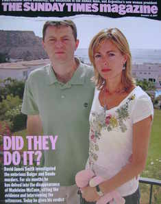 <!--2007-12-16-->The Sunday Times magazine - Gerry McCann and Kate McCann c