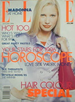 <!--1996-01-->British Elle magazine - January 1996 - Kirsty Hume cover