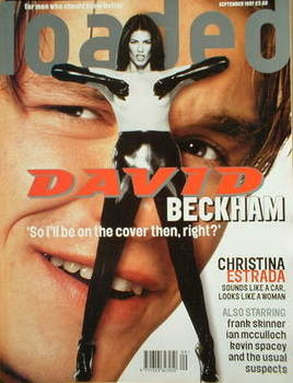Loaded magazine - David Beckham / Christina Estrada cover (September 1997)