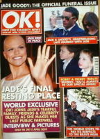 <!--2009-04-14-->OK! magazine - Jade Goody funeral cover (14 April 2009 - Issue 669)
