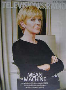 Television&Radio magazine - Anne Robinson cover (9 February 2008)