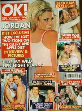 <!--2005-08-16-->OK! magazine - Jordan Katie Price cover (16 August 2005 -
