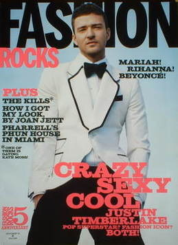 Fashion Rocks magazine - Justin Timberlake cover (Autumn 2008 - US Edition)