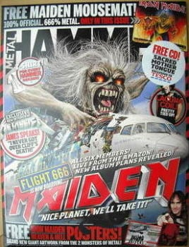 Metal Hammer magazine - Iron Maiden cover (June 2009)