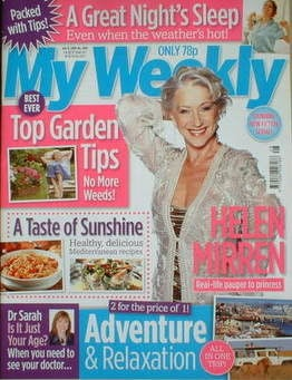 My Weekly magazine (12 July 2008 - Helen Mirren cover)