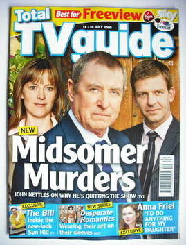 Total TV Guide magazine - John Nettles cover (18-24 July 2009)