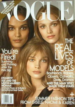 <!--2009-05-->US Vogue magazine - May 2009 - Models cover