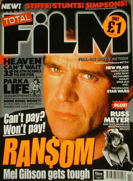 Total Film magazine - Mel Gibson cover (February 1997 - Issue 1)