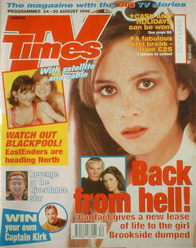 <!--1996-08-24-->TV Times magazine - Anna Friel cover (24-30 August 1996)