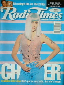 <!--1995-11-25-->Radio Times magazine - Cher cover (25 November-1 December