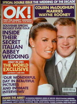 <!--2008-06-30-->OK! magazine - Coleen McLoughlin and Wayne Rooney wedding