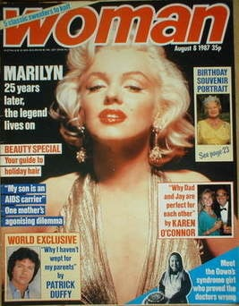 <!--1987-08-08-->Woman magazine - Marilyn Monroe cover (8 August 1987)