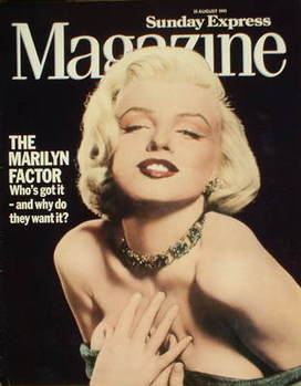<!--1991-08-25-->Sunday Express magazine - 25 August 1991 - Marilyn Monroe cover