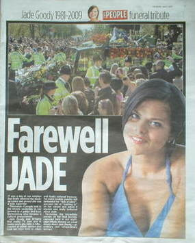 The People newspaper supplement - Farewell Jade (5 April 2009)
