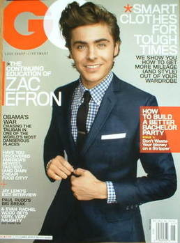 <!--2009-05-->US GQ magazine - May 2009 - Zac Efron cover